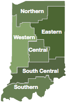 Indiana Region Map